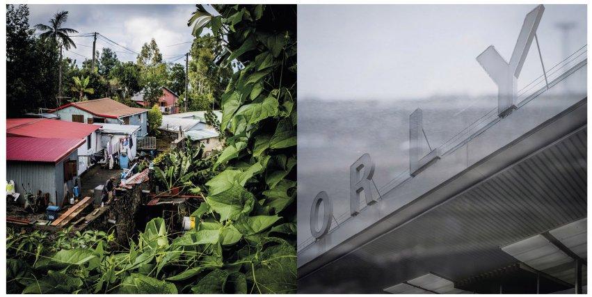Habitations, Les Trois-Bassins, La Réunion, janvier 2018 Aéroport d'Orly Sud où les enfants réunionnais arrivaient pour être transférés dans un foyer pour enfants, une famille d'accueil ou encore dans leur future famille adoptive.
