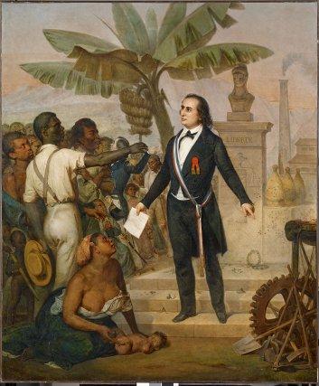 Tableau de Alphonse Garreau, L'émancipation à la Réunion le 20octobre 1848, 1849