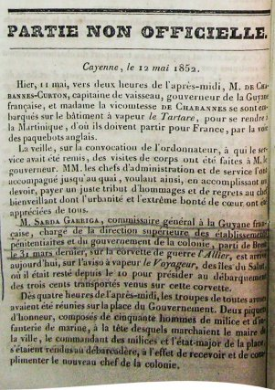 Sarda Garriga, Proclamation du 17octobre 1848.