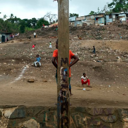 Village de Kawéni au nord-est de Mamoudzou.
