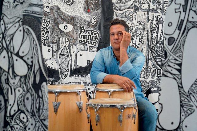 Ricardo Ozier Lafontaine, dans son atelier à FDF.