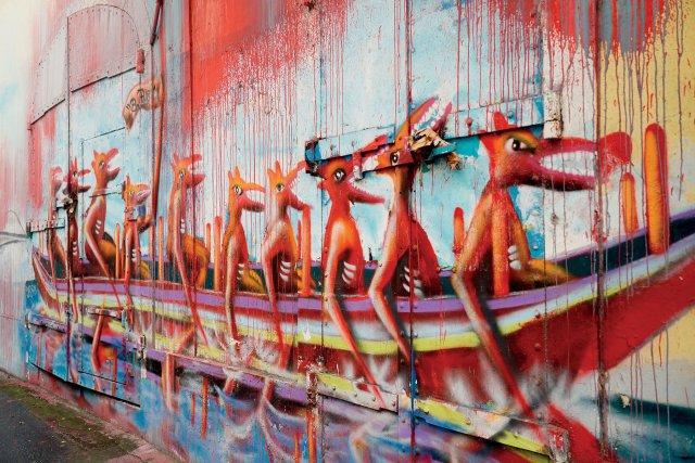 ▼Ronald Cyrilles, fresque murale à Pointe-à-Pitre.