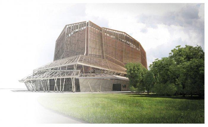 ▲ La Maison des mémoires et de la Guyane héberge le centre de conservation des archives et des collections. Elle a été dessinée par D3 Architectes.