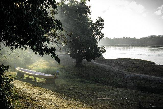 Entre fleuve et forêt.