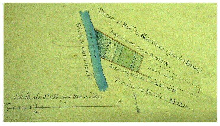 Relevé d'ensemble de l'habitation Garonne.