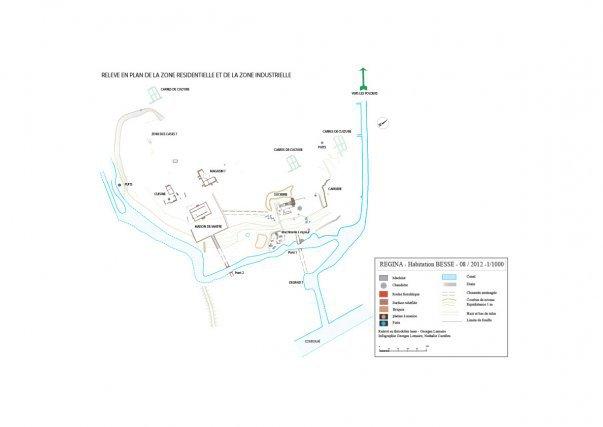 Relevé d'ensemble de l'habitation Besse-La Garonne