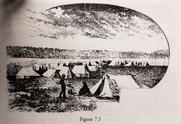 Vue d'un camp traditionnel atikamekw