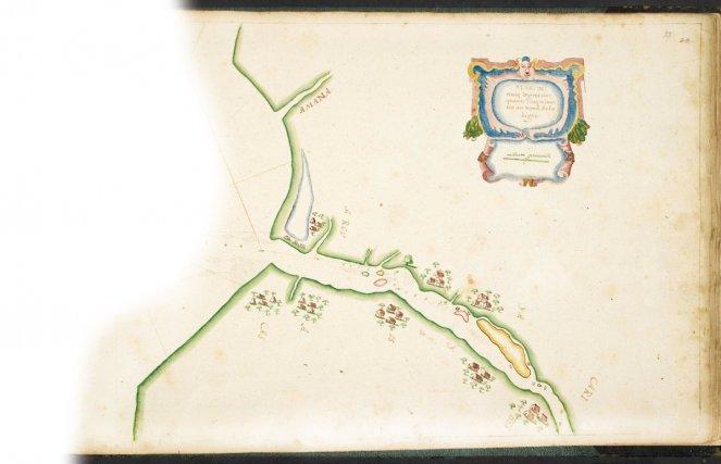 Carte de l'estuaire du Maroni et de la Mana. Jesse de Forest (1623)