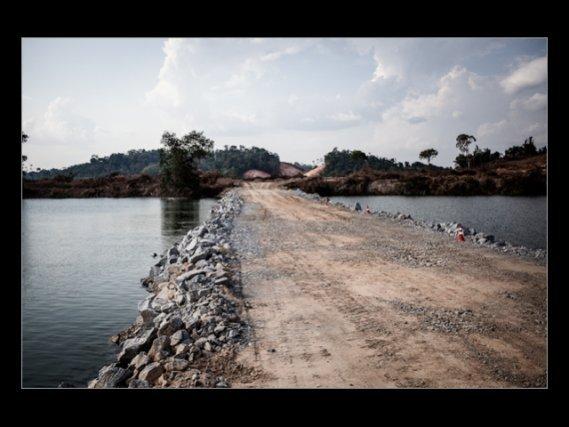 Le site de Pimental sur le chantier du barrage.Novembre 2012.