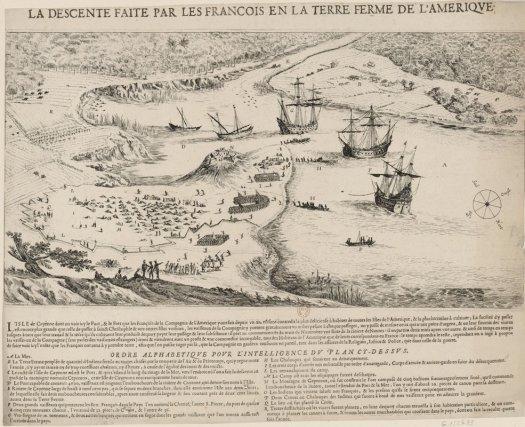 L'arrivée de la Compagnie des 12 seigneurs à Cayenne en 1652.