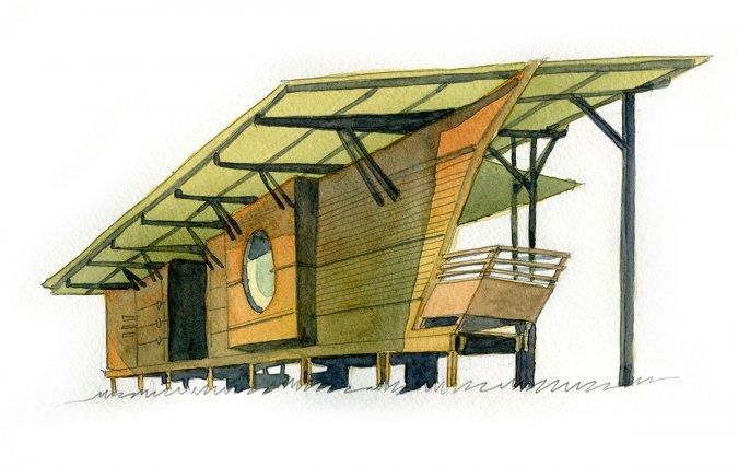 La maison de la réserve. Architecte JAG.