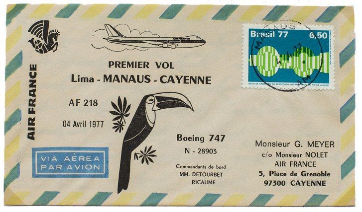 Lima-Manaus-Cayenne en 1977