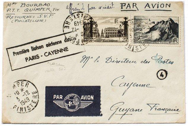 1949 Première liaison aérienne directe Paris-Cayenne