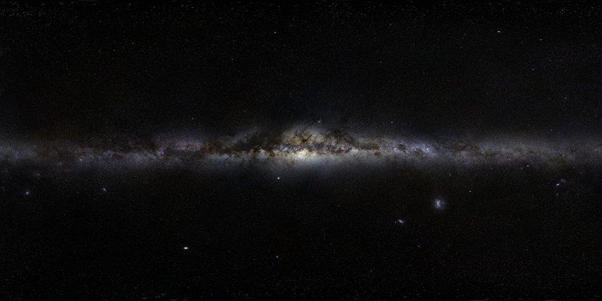 Panorama de la voie lactée.  The high resolution image provided here contains 18 million pixels.