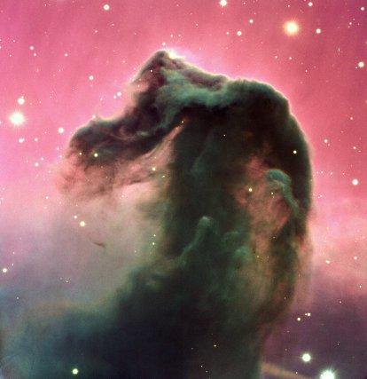 La nébuleuse de la tête de cheval, constellation d'Orion, 1300 année-lumière.