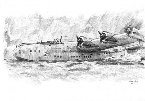 Le Latécoère 631 est le plus grand hydravion de son époque. Air France opère sa liaison transatlantique jusqu' à son crash en 1948..