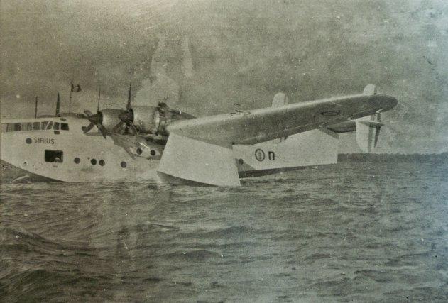 Breguet730 SIRIUS, hydravion d'exploration construit à 4 exemplaires. Ici, le BR 730 n°2, mis en service en 1946 de passage à Macouria1948.