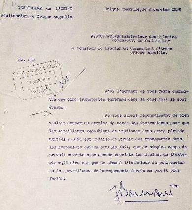 Rapport d'évasion, 1938