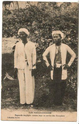 Carte postale du bagne de Poulo Condor (Vietnam). Carte postale, début XXe siècle, coll. T. Cantonnet. Plusieurs centaines de bagnards de cet établissement sont envoyés en Guyane au début des années 1920.