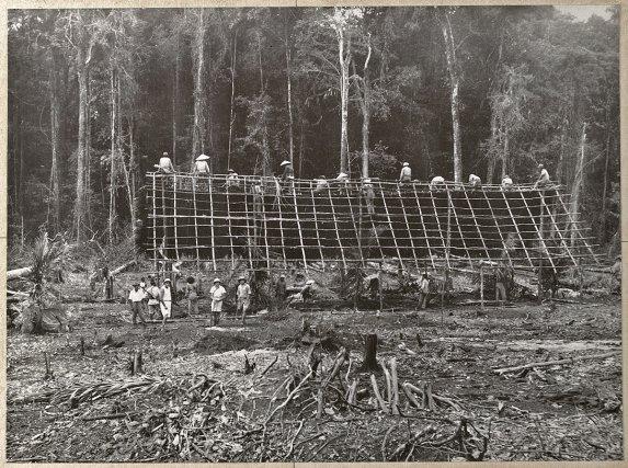 Construction d'une case à Crique-Anguille (1931)