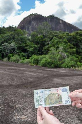 Le dôme du Voltzberg (240m) est emblématique de la Réserve centrale du Suriname, on le retrouve sur les billets de banque.