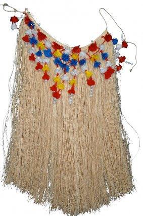 Habit traditionnel Lokono (arawak) en fibres de palmiers-bâches.