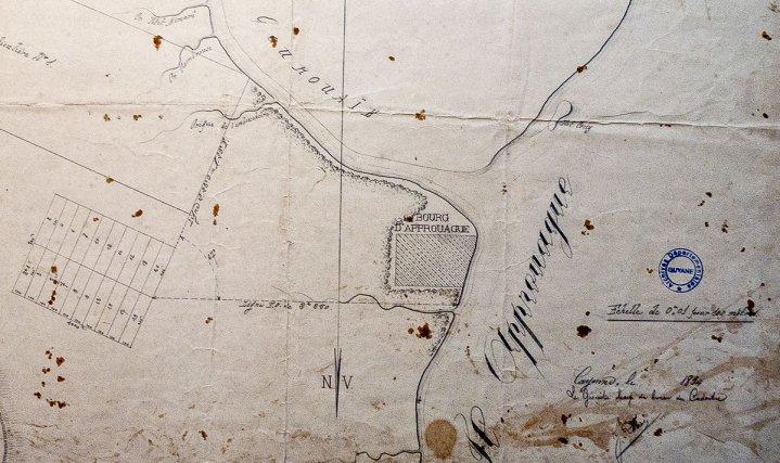 Guizanbourg. Plan de 1834.