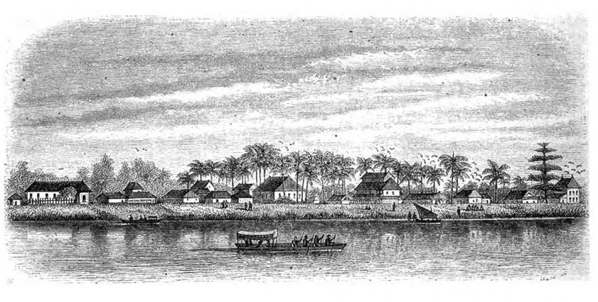 Vue de Guizanbourg. Dessin de Lebreton, 1856.