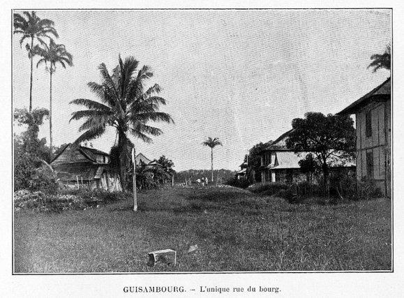 Guizanbourg, vers 1905. Extrait de C. Brossard, Les colonies françaises, 1906.