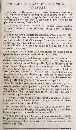 Feuille de la Guyane française, 10 novembre 1855.