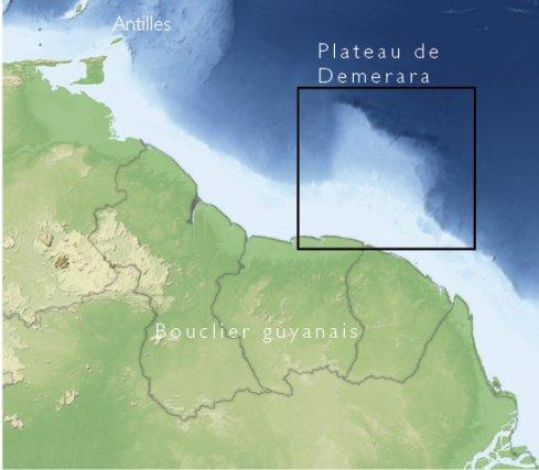 Localisation du Plateau de Demerara
