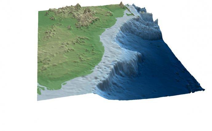 Vue 3D du Plateau de Demerara