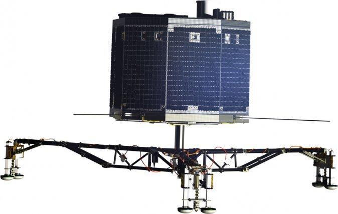 L'atterrisseur Philae porte à lui seul 10 instruments de mesure. ESA/ATG medialab