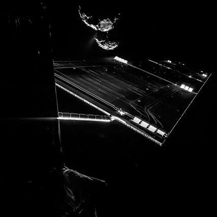 Selfie de Rosetta à 16 km de la comète, le 7 octobre 2014