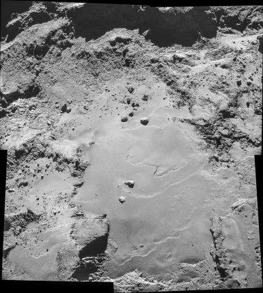 Extrait de photo de la comète par le NAVCAM de Rosetta.