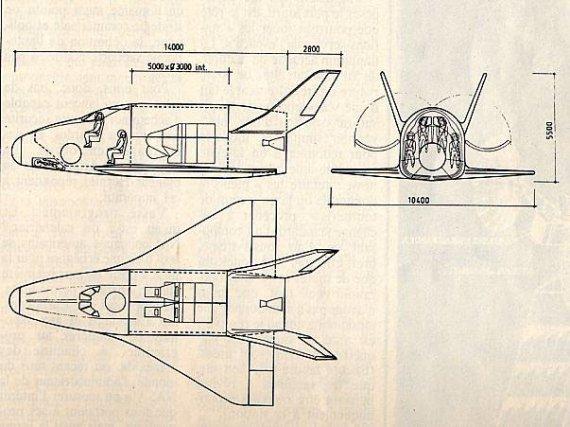 Etude sir Hermès réalisée en 1984 avant l'accident de la navette américaine
