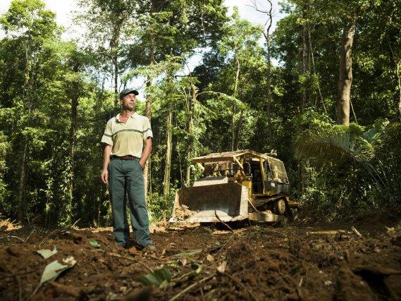 Hervé Quezel,  agent forestier de l'Office National des Forêts en Guyane.