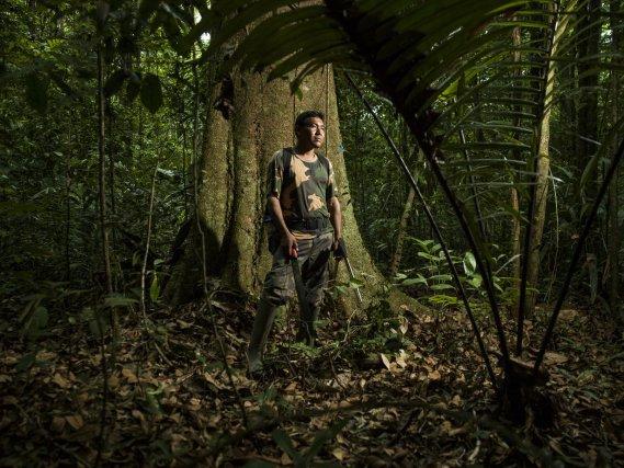 Fabrice Jubitana, ouvrier forestier de l'Office National des Forêts en Guyane.