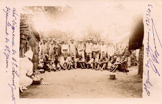 Ilot Saint Louis, l'île aux lépreux en 1903.