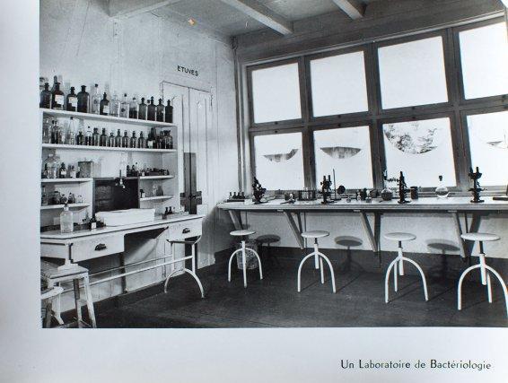 Laboratoire de bactériologie du premier Institut Pasteur, rue Schœlcher.