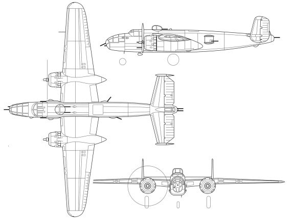 Coupe du North American B-25 Mitchell