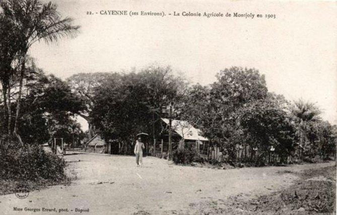 La colonie agricole de Montjoly en 1903 - Carte postale éditée par Mme Georges Evrard.
