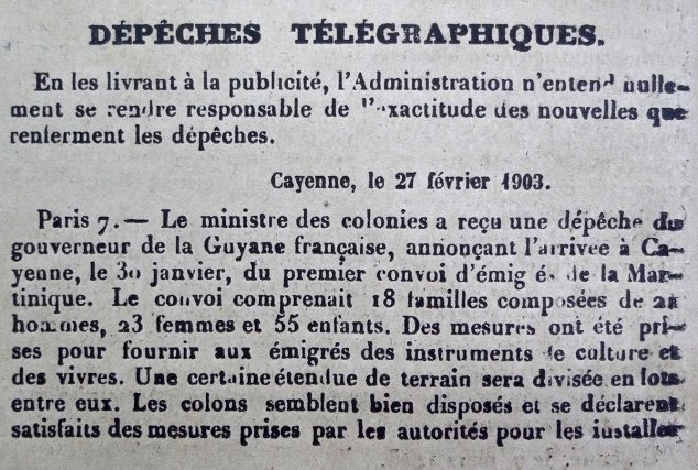 Journal officiel de la Guyane fr., 7 mars 1903
