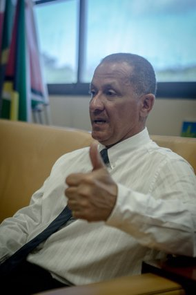 Rodolphe Alexandre, à l'hôtel de la Collectivité territoriale de Guyane, juillet 2016.