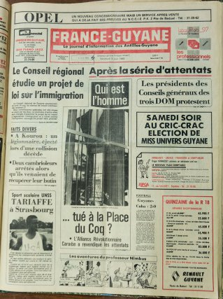 France-Guyane du 31 mai et du 2 juin 1983