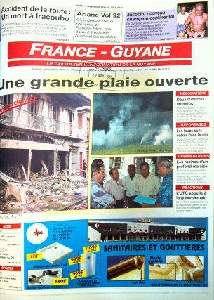 La société civile locale découvre le défi de la démographie scolaire et le fossé entre générations. France Guyane du 12 et 14 novembre 1996.