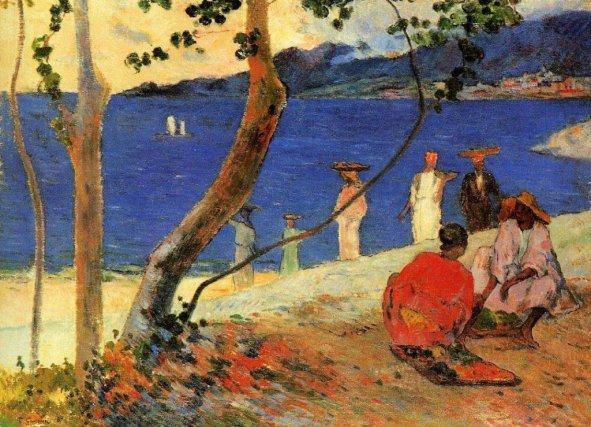La plage de St-Pierre, tableau de Gauguin, 1887.