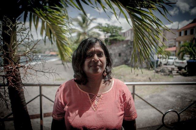 Jocelyne Sacarabany, de l'association Gopio Martinique.