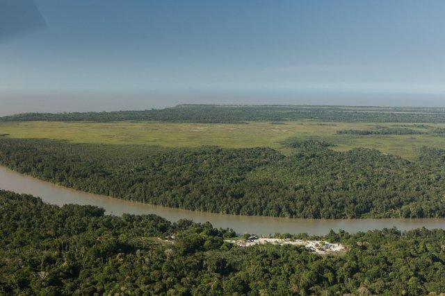 Vue aérienne du village Ayawandé