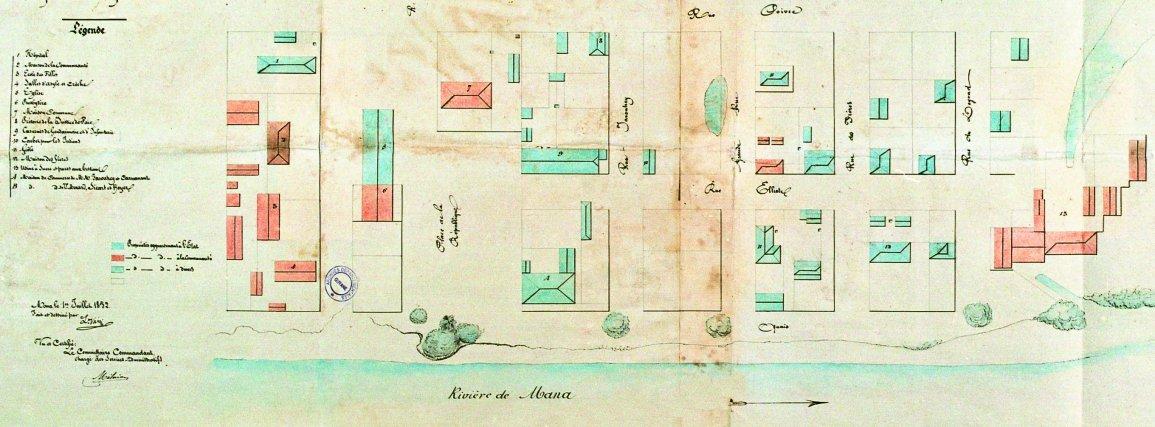 Plan de Mana, 1852.